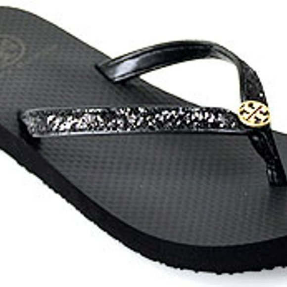 96f20750b882c Tory Burch Shoes - Tory Burch Adia Glitter Flip Flips
